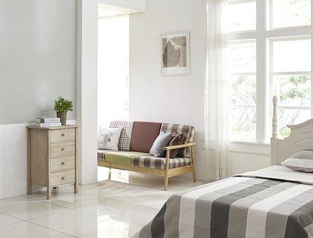 Dormitorio, Armario, Cama, Habitación