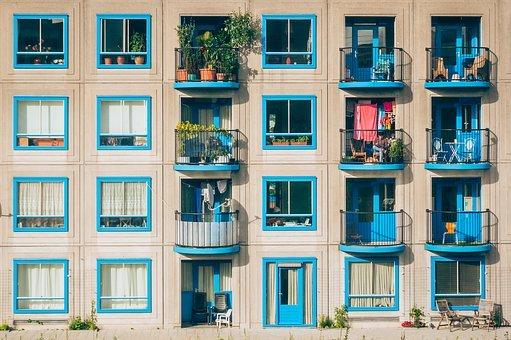 Apartamentos, Arquitectura, Balcones