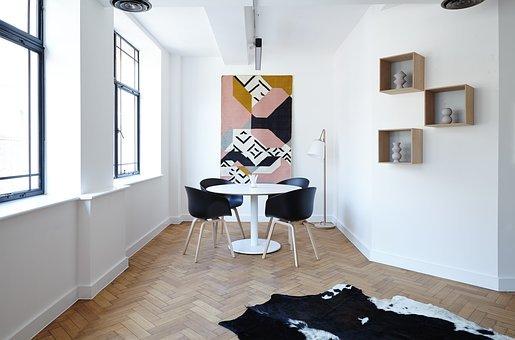 Sillas, Salón, Mesa, Contemporánea